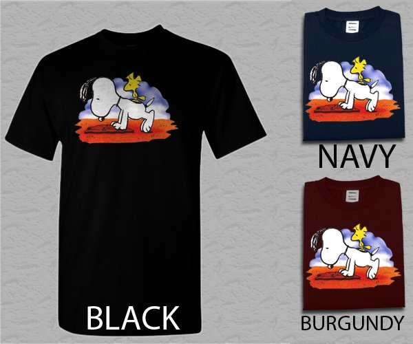 Men T Shirt Snoopy and Woodstock Adult T-Shirt S - XXL
