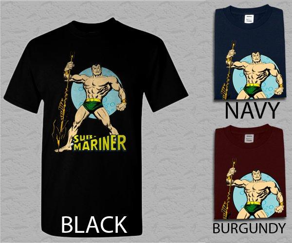 Men T Shirt Sub-Mariner Prince Namor Adult T-Shirt S - XXL