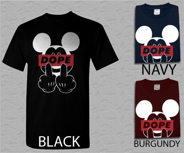 Men T Shirt Womens New Dope Mickey Mouse black Adult T-Shirt S - XXL
