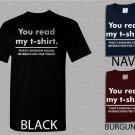 Men T Shirt You Read My Enough Social Interaction..Big Bang Adult T-Shirt