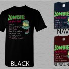 Men T Shirt Zombie To Do List Adult T-Shirt S - XXL