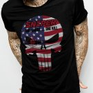 THE PUNISHER US AMERICAN SNIPER Men Black T-Shirt Tee