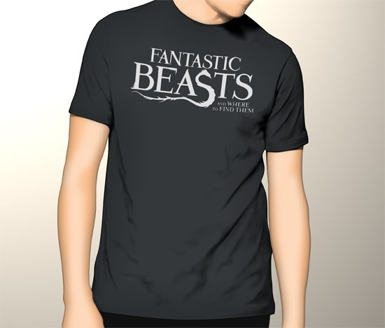 Harry Potter Fantastic Beasts and Where to Find Them  Men Black T-Shirt Tee