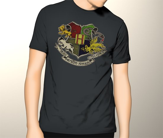 New Harry Potter Spin-Off Fantastic Beasts and Where to Find Them Logo Men Black T-Shirt Tee