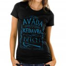 Avada Kedavra Bitch Harry Potter Magic Spell Muggles Wizard Women's Black T Shirt