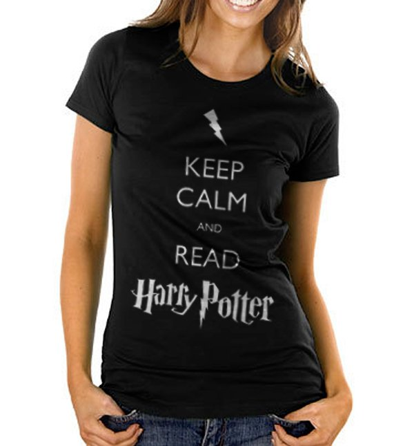 Keep Calm and Read Harry Potter Women's Black T Shirt