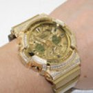 ICED OUT ALL GOLD LIMITED EDITION GA200 GSHOCK WATCH