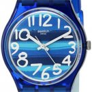 Swatch Unisex GN237 Blue Plastic Watch