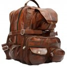 """Vintage Leather Back Pack with Multiple Large Pockets, 16"""" x 11"""" x 11"""""""