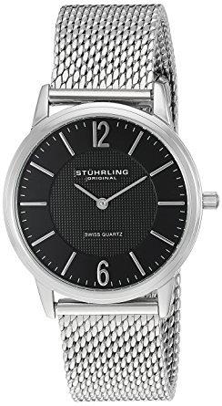 Stuhrling Original Men's Classic Ascot Somerset Elite Swiss Quartz Watch with