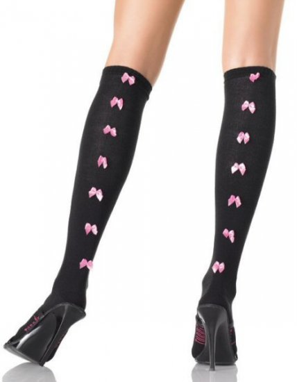 Knee Socks with Bow Seam Back