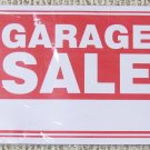 Garage Sale Signs 24-Pack Plastic 9 x 12 Red White Sign