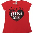LA Teez Girls Size 6X Hug Me Heart Tee Shirt Red Short Sleeve T-shirt