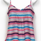 Weavers Juniors S Pink Striped Geometric Tank Top Cami Shirt Camisole