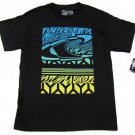 Oneill Mens M Black T-shirt with Blue and Green Logo O'Neill Ryder Tee Shirt