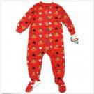 Paul Frank Girls 3T Red Heart Julius Footed Fleece Pajama