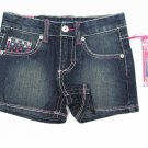 Z Cavaricci Royal Collection Girls size 4 Jean Shorts with Butterfly Pockets
