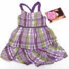 Young Hearts Baby Girls 24 Mos Purple and Green Plaid Dress and Bloomers 2-Piece Set