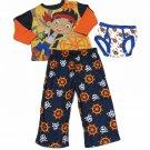 Disney Pirate Jake Pajamas Boys 2T Shirt Pants and Briefs New 3-Piece Set
