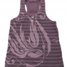Z-Brand Girls Size 7 Purple Stripe Tank Top Shirt Racerback Girl's
