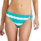 Lauren Ralph Lauren Size 16 Teal Ikat Stripe Hipster Bikini Bottom Women's Swimsuit