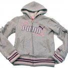 Puma Girls S Gray Hoodie Sweatshirt Girl's Small 7 Zip Jacket Pullover