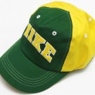Nike Child Boys Green and Yellow Logo Hat with Velcro Strap Kids Boy's 4-14