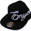 Enyce Black Wide Brim Hat Mens 7 3/8 Cap Purple Brim Men's