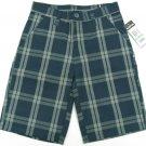 Zoo York Boys sz 16 Dark Blue Plaid Shorts Youth Boy's Casual Shorts
