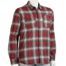 Vans Boys M Red Plaid Button-down Heritage Crusader Jacket Youth Boy's Medium