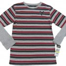 Zoo York Boys L 16-18 Red and Gray Stripe Long Sleeve T-shirt Youth Tee Shirt Boy's Large