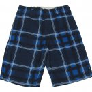 Zoo York Boys size 8 Blue Plaid Board Shorts Youth Boardshorts Boy's Swim
