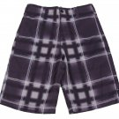 Zoo York Boys size 8 Purple Plaid Board Shorts Youth Boardshorts Boy's Swim