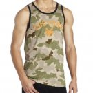 Zoo York Mens M Green Camo Tank Top Men's Medium Sleeveless Shirt