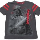 Star Wars Boys size 4-5 Dark Gray Darth Vader Varsity T-shirt Boy's Short Sleeve Tee Shirt