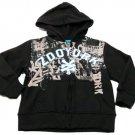 Zoo York Boys size 4 Black and Gray Hoodie Kids Zip Sweatshirt Boy's