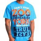 Zoo York Mens XL Xplistack T-shirt Men's Electric Blue Tee Shirt Short Sleeve