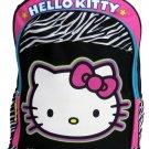 Hello Kitty Girls Black and Pink Zebra Print Backpack Bag