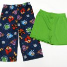 Angry Birds Boys 2T Blue Pajama Pants and Green Shorts Set Size 2