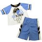 Kids Headquarters Baby Boys 18 Months Football Tee Shirt and Gym Shorts 2-Piece Set