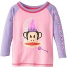 Paul Frank Baby Girls 18 Months Little Princess Raglan Tee Shirt Pink and Purple Long Sleeve