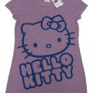 Hello Kitty Juniors M Purple Tee Shirt Scoopneck T-shirt with Blue Design Short Sleeve Medium Sanrio