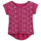 Hello Kitty Girls size XS 4-5 Printed High-Low Top Pink Shirt Kids Short Sleeve
