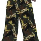 Duck Dynasty Boys size 4 Camo Fleece Pajama Pants Green Brown Lounge Kids