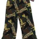 Duck Dynasty Boys size 4 Camo Fleece Pajama Pants Green Brown Lounge Kids