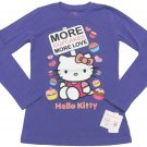 Hello Kitty Girls M More Cupcakes More Love Tee Shirt Purple Long Sleeve T-shirt Youth Girl's Medium