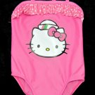 Hello Kitty Girls 2T Pink Crossback One-Piece Swimsuit Swim New Bathing Suit