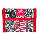 Young and Reckless Red Black White Canvas Tri-fold Stay Wallet Logo Pattern