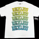 Young and Reckless Mens XL White T-shirt with Ombre Logo Y&R Short Sleeve Tee Shirt Men's