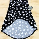XOXO Girls  size 4 Black and White Heart Print High-Low Skirt Small Girl's
